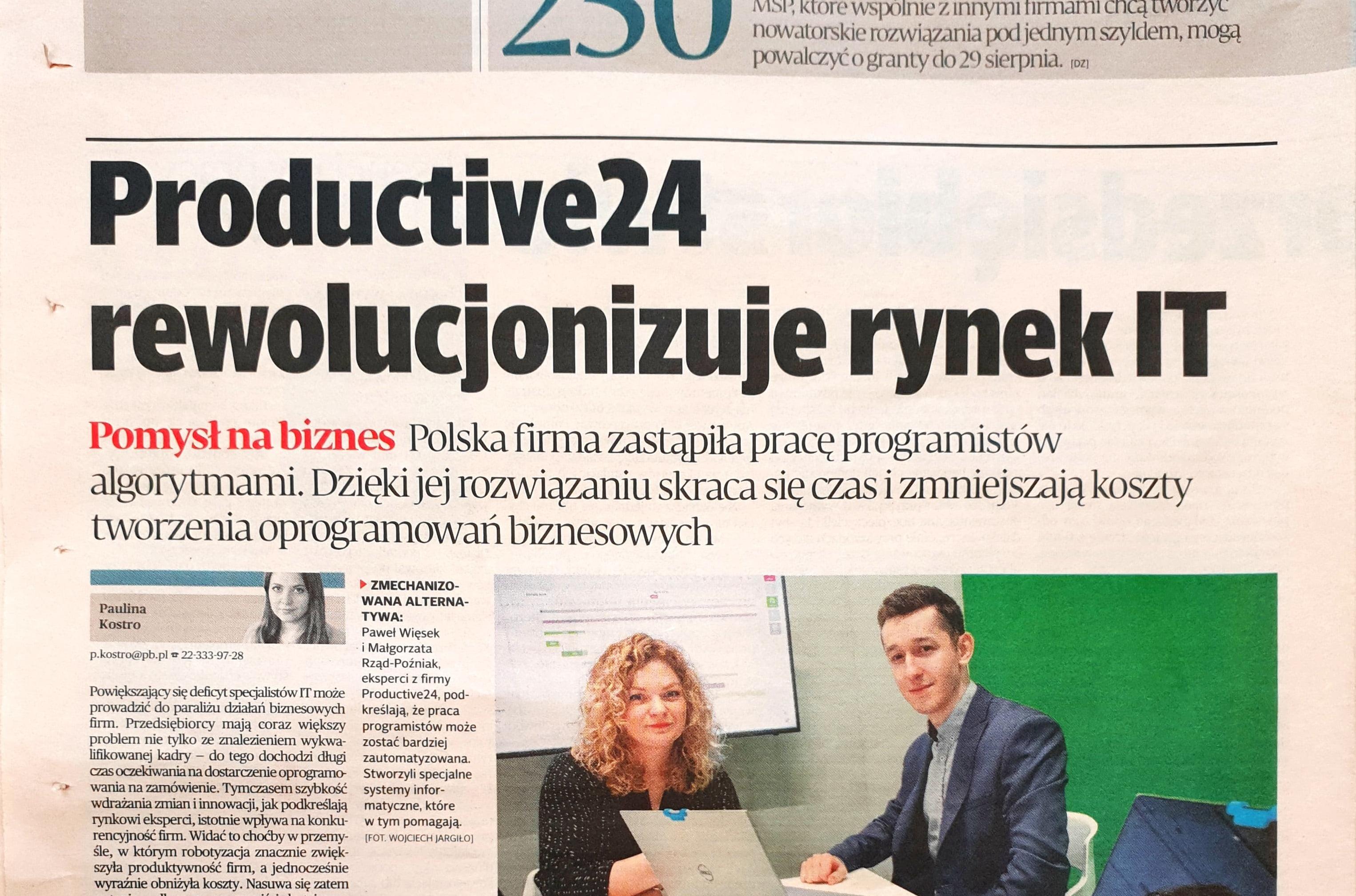 """Productive24 rewolucjonizuje rynek IT"""